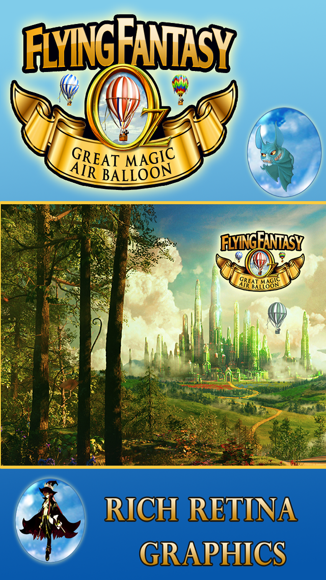 Oz Flying Fantasy-A Great Race Game in the Magical Hot Air Balloon screenshot one