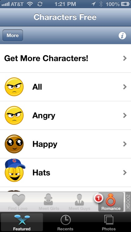 Emoji Characters and Smileys Free! screenshot-2
