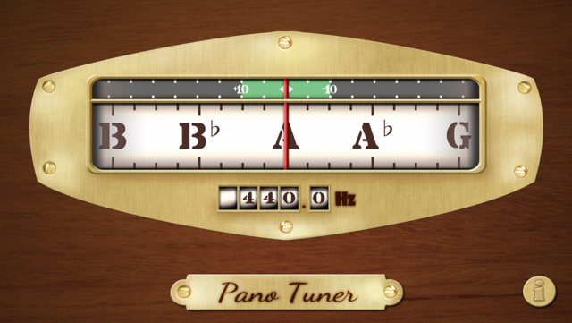 Free Chromatic Tuner: Pano Tuner Screenshot