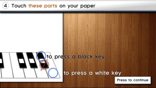 Paper Piano Screenshot