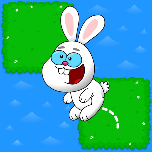 Tap the Bunny Hop - Do not jump on the water tile FREE game iOS App