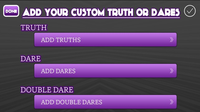 Sexual truths for truth or dare
