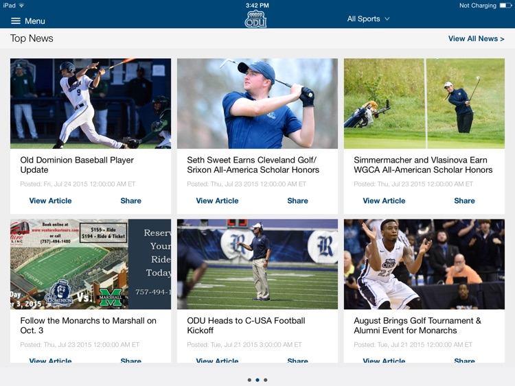 ODU Sports iPad 2015 screenshot-0