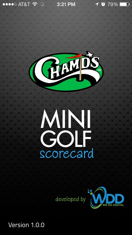 Champs Entertainment Complex Mini Golf Scorecard