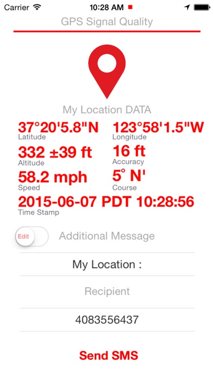 SMS My Location  ( Send your GPS location data through TEXT Message )
