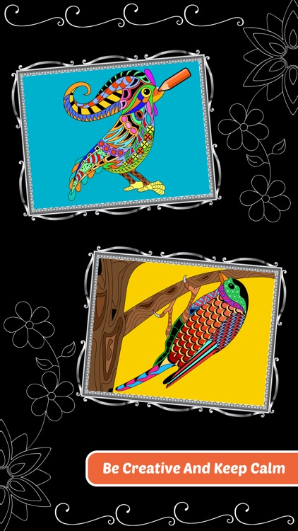 Love Birds Art Class: Stress Relieving Coloring Books for Adults screenshot-3