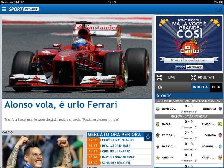 SPORT MEDIASET HD screenshot-0