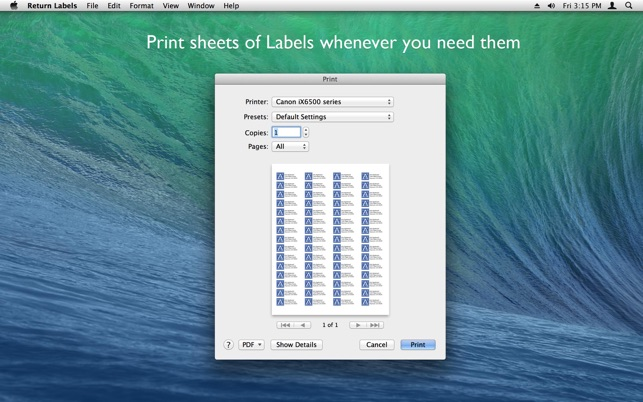 Return Labels On The Mac App Store