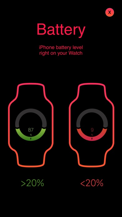 NetWatch for Apple Watch : Check your Phone Network & Battery Screenshot