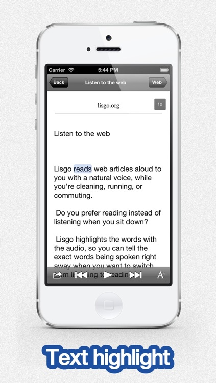 Listen to Pocket - Lisgo is the text to speech app for the web
