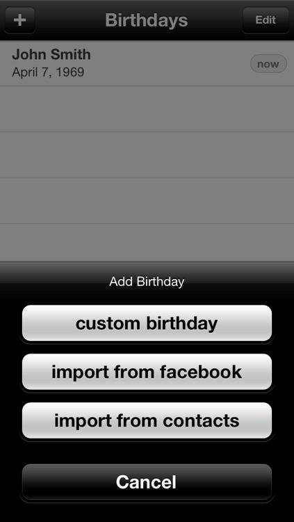 My Birthdays Calendar