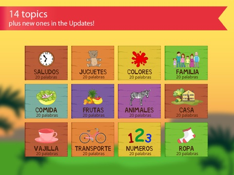 Spanish for kids with benny learning spanish language by flashcards screenshot 3 for spanish for kids with benny learning spanish language by flashcards m4hsunfo