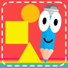 Activities of Montessori tracing and coloring games for kindergarten kids
