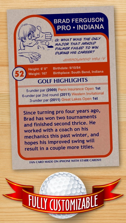 Golf Card Maker - Make Your Own Custom Golf Cards with Starr Cards