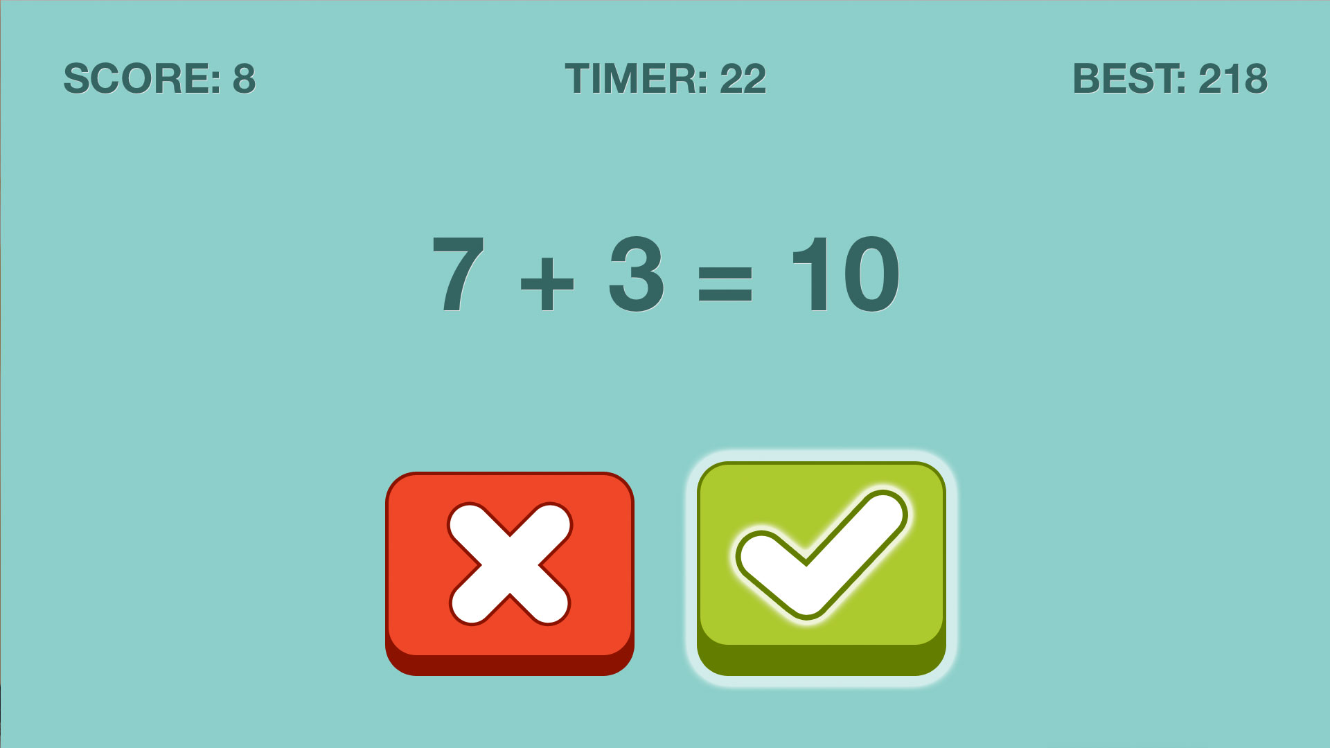 Quick Checkers Math Puzzle screenshot 1