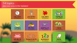 西班牙的孩子與本尼。顏色和數字,問候和家庭,食物,水果,動物和記憶單詞免費的讀音:通過識字學習西班牙語屏幕截圖3