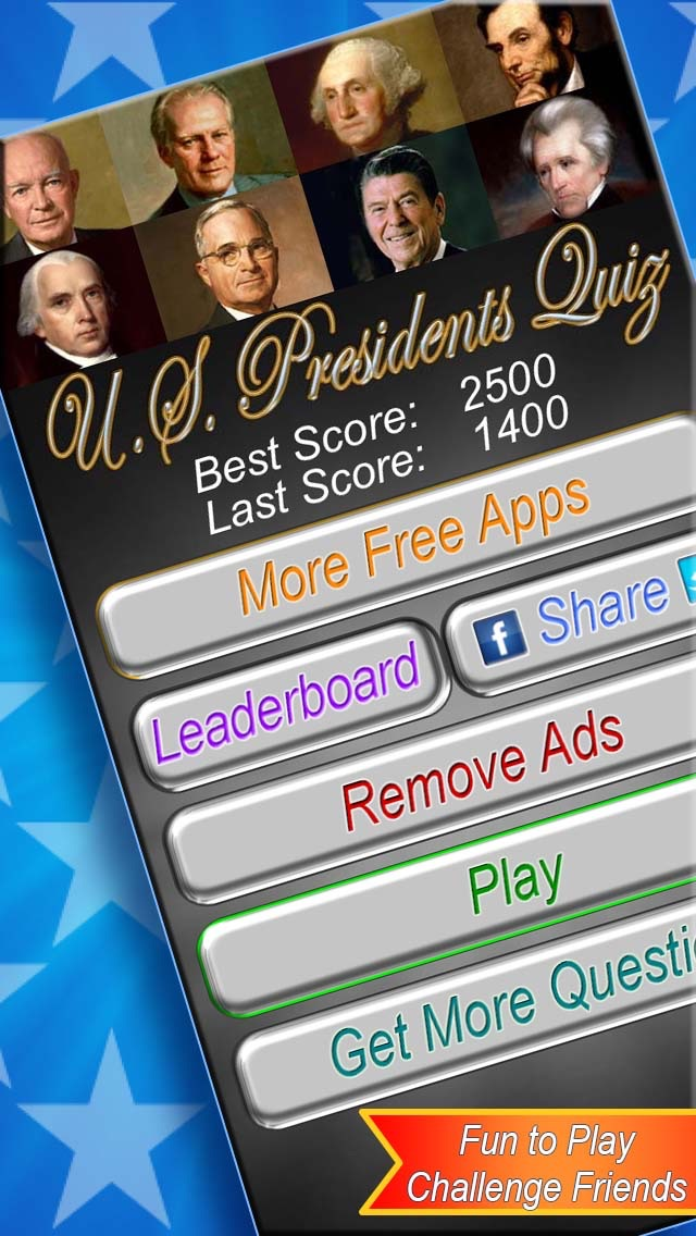 US Presidents Trivia Quiz Free - United States Presidential Historical Photo Recognition Guessing Educational Game hack tool
