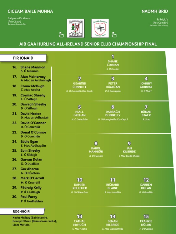 GAA Official Matchday Programmes screenshot-1