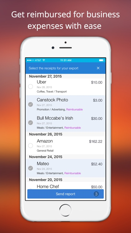 Shoeboxed Receipt and Mileage Tracker app image