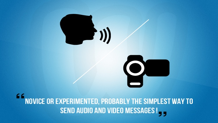 Woice lite - Record and send video and voice message by sms, email, Twitter and Facebook screenshot-4