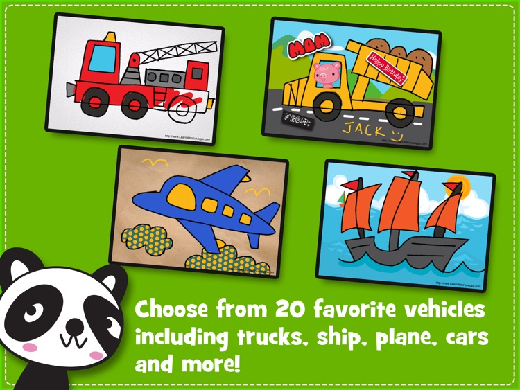iLuv Drawing Vehicles HD - Kids learn how to draw cars, trucks, train, plane and more step by step screenshot-4
