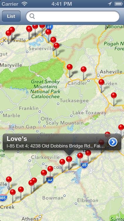 Truck Stops Finder - Pro screenshot-3