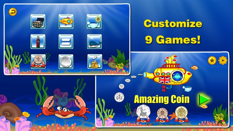 Amazing Coin(GBP£): Educational Money Learning & Counting games for kids FREE