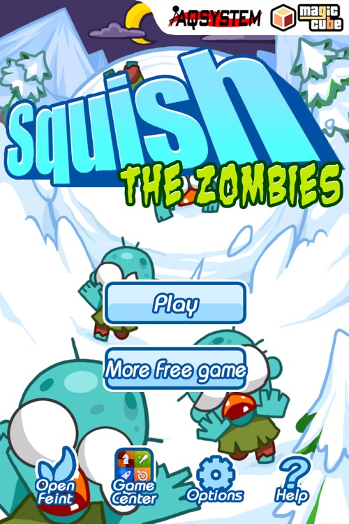 Squish The Zombies - Fun Time Killer Game with snowball screenshot-4