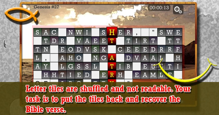 WORD PUZZLE for the CHRISTIAN SOUL - Bible verses inspired Word Puzzle Game. Shuffle to reveal the verse.
