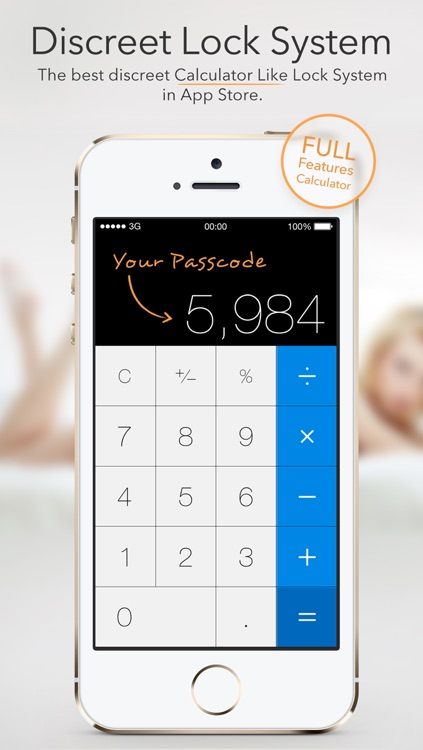 Secret Calculator Icon - Safe and Secure Photo Videos Secret Notes Password Manager Send Encode Messages Keep and Protect All Private Data and Information in One App