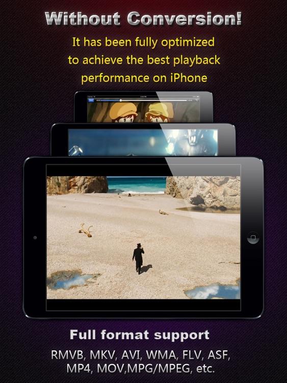 AVI, FLV, WMA, RMVB, MPEG, MP4 Player HD