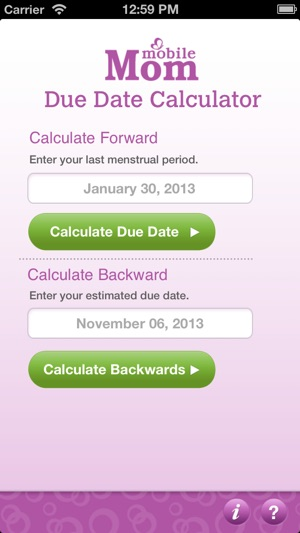 pregnancy due date calculator my baby wheel countdown birth calendar on the app store