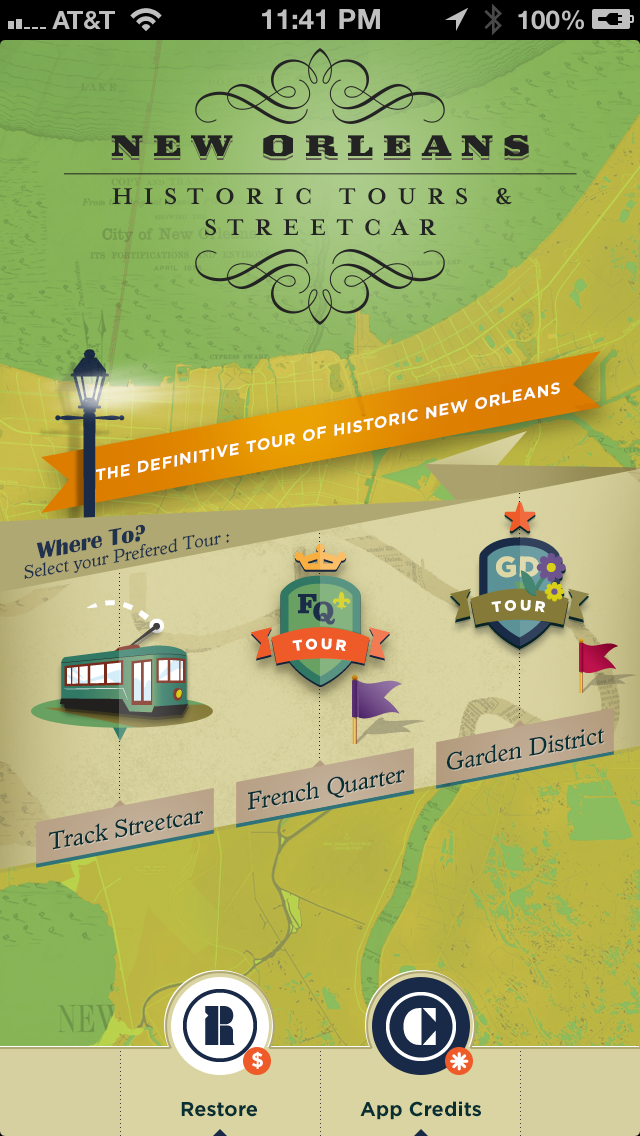 French Quarter, Garden District Historic Tours and New Orleans Streetcar Tracker screenshot one