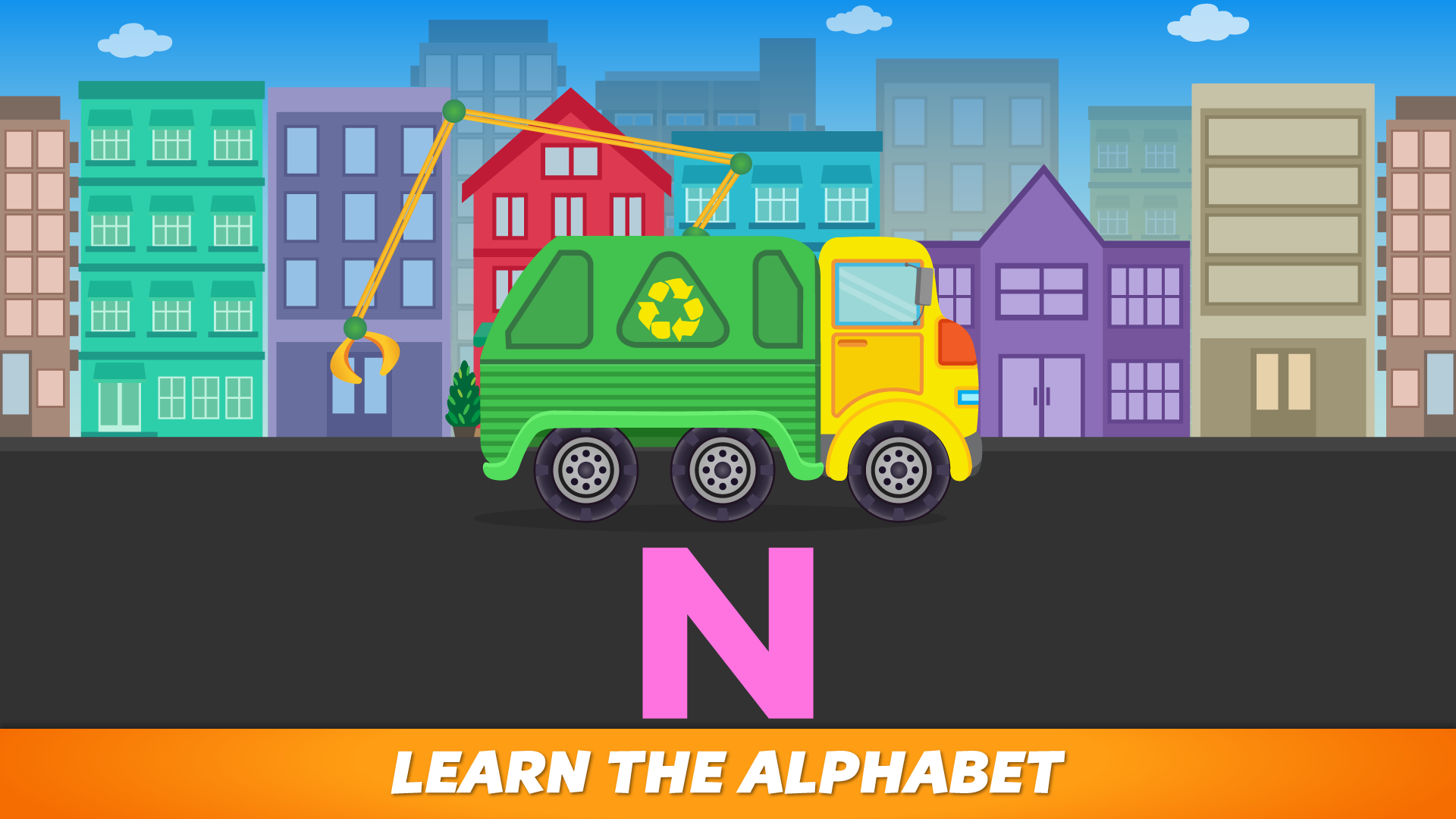 ABC Garbage Truck - Alphabet Fun Game for Preschool Toddler Kids Learning ABCs and Love Trucks and Things That Go screenshot 3