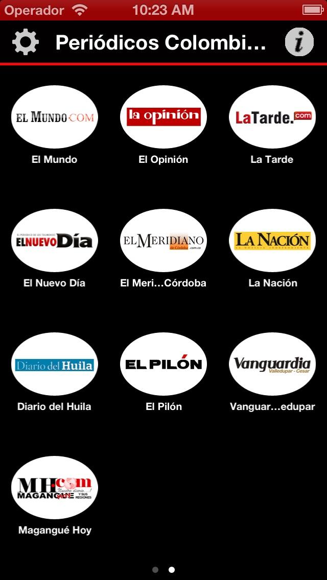 Periódicos Colombiano... screenshot1