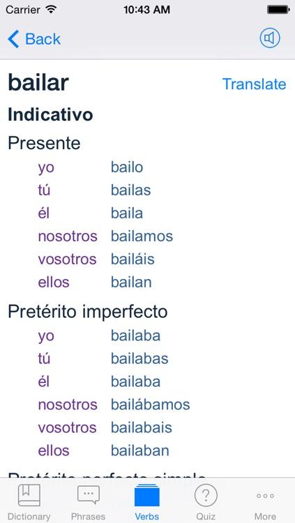 Spanish English Dictionary + screenshot-3