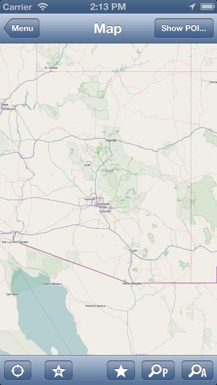 Arizona, USA Offline Map - PLACE STARS