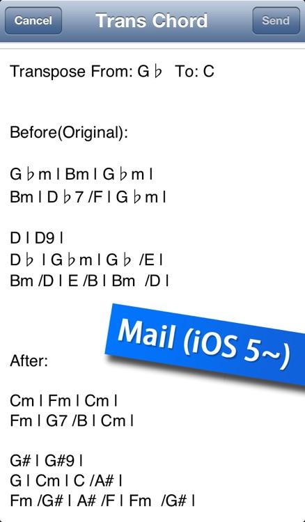 Trans Chord  - music guitar chord transposition / chord editor screenshot-4