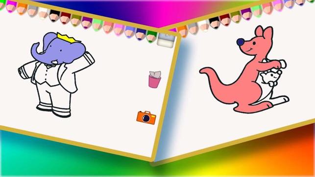 Dedo Pintura para colorear libro para niños en App Store