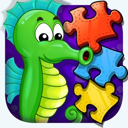 Sea Animals - Jigsaw Puzzle Learning Games for Infant Kids & Toddlers