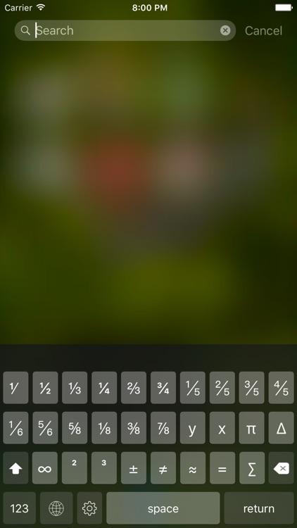 Fractions Keyboard