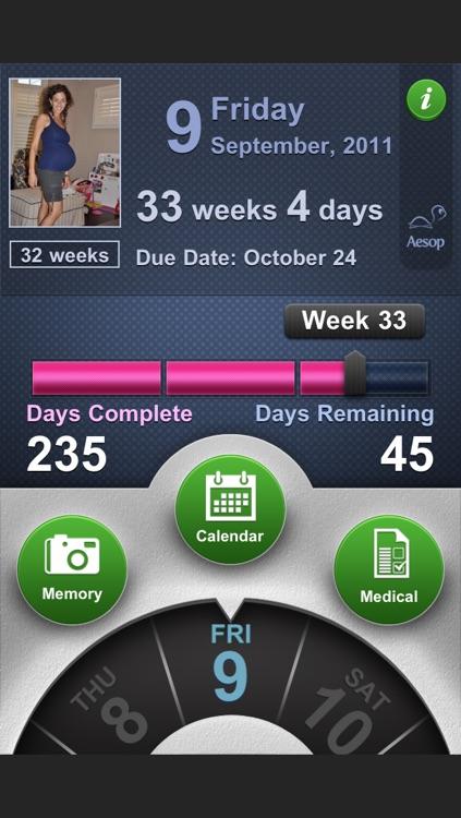 Pregnancy Progress: baby journal + medical info