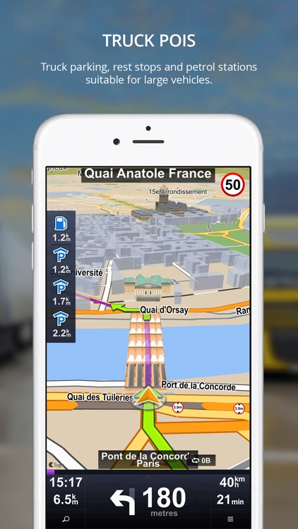 Sygic Truck GPS Navigation for Truck, Van, RV, Bus