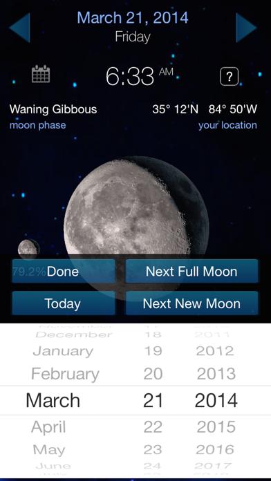 Lunar Phase Full moon calendar screenshot two