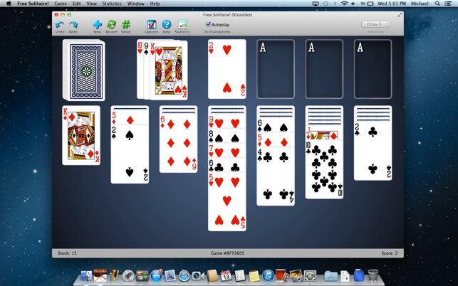 A clone of the classic Klondike Solitaire, with 3D effects