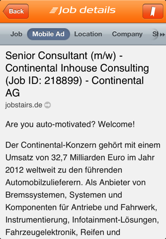 Screenshot of JobStairs - Jobsuche