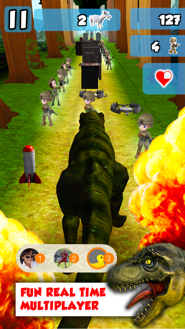 A Rex Rampage With 3D - Dangerous Dinosaurs Walking & Run-ning to Destroy & Devour Everything! Screenshot on iOS