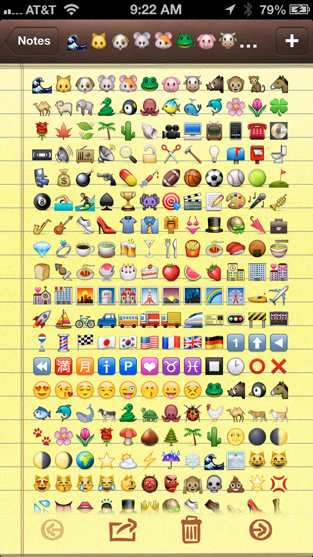 Emoji Characters and Smileys Free! Screenshot on iOS