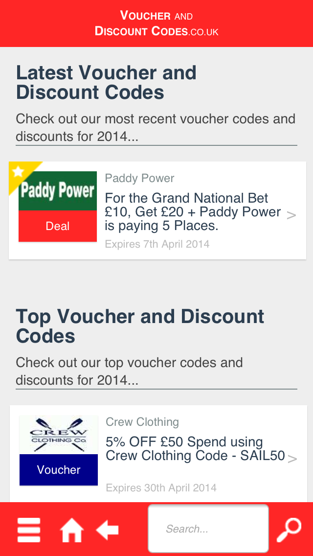 Voucher and Discount Codes