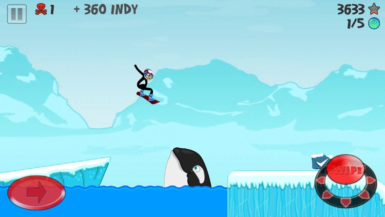 Stickman Snowboarder screenshot-2